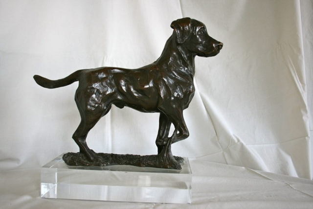 Bronze Statue of a Labrador