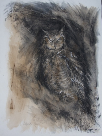 African Eagle Owl Painting