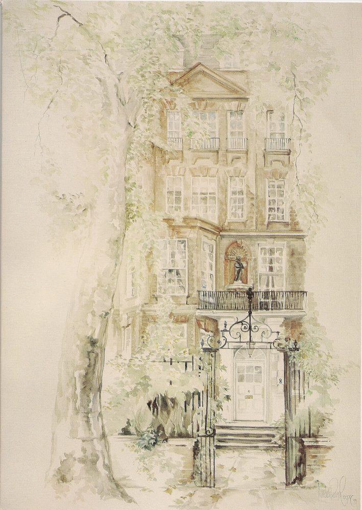 Cheyne Walk House Watercolour Painting