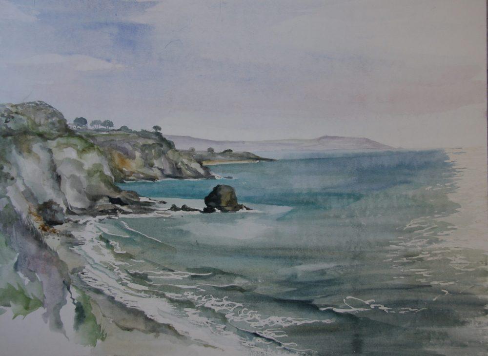 Cornish Beach Watercolour Painting