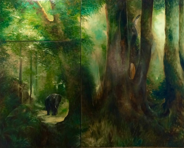 Knysna Elephant Oil Painting