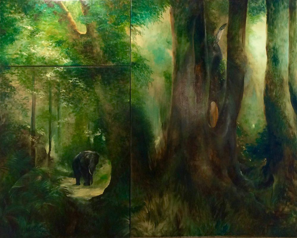 Knysna Elephant Oil Painting