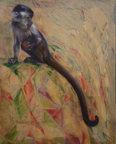 Harlequin Monkey Oil Painting