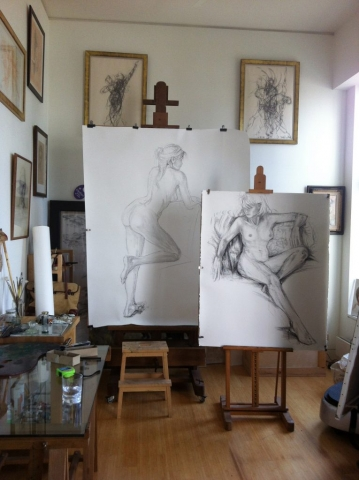 Charcoal Nude Drawings