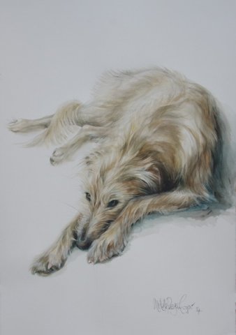 Watercolour Painting of a Lurcher
