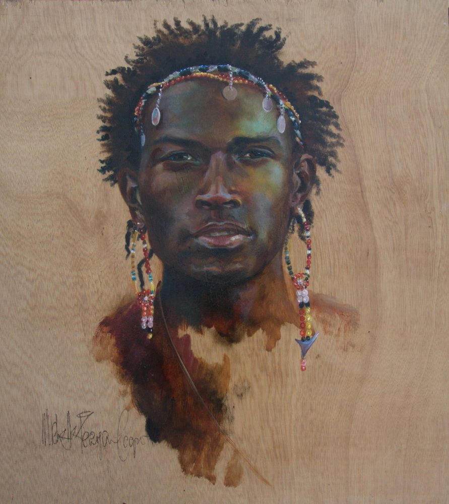 Maasai Warrior Oil Painting