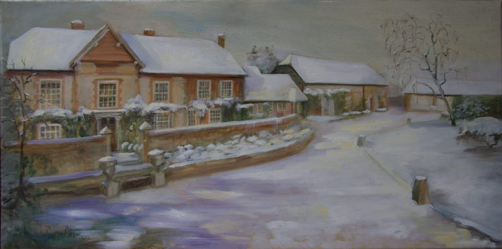 Millbrook House in the Winter Oil Painting