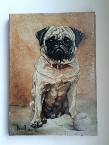 Oil Painting of a Pug