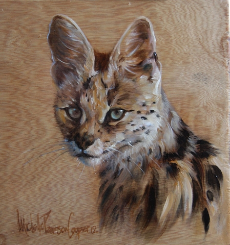 Painting of a Serval Wild Cat