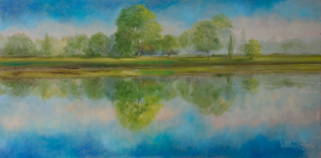 Scenic Summer Oil Painting