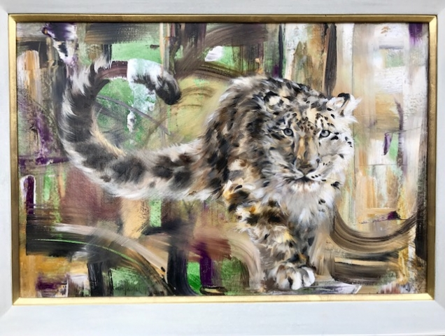 Snow Leopard Oil Painting