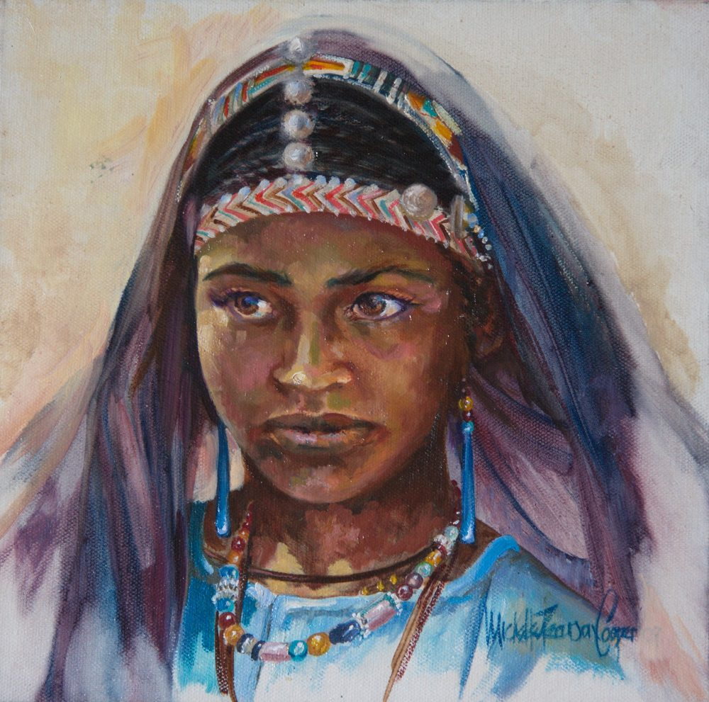 Targuia Girl Oil Painting