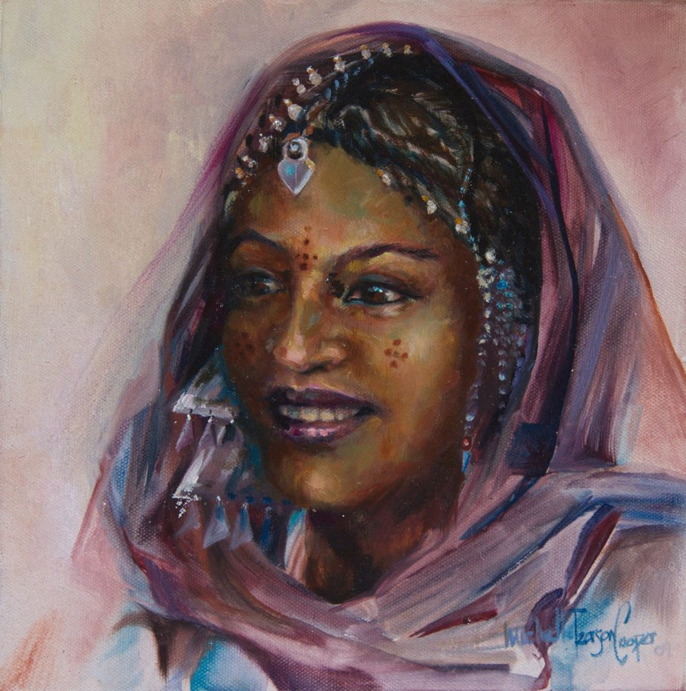 Targuia Woman Oil Painting