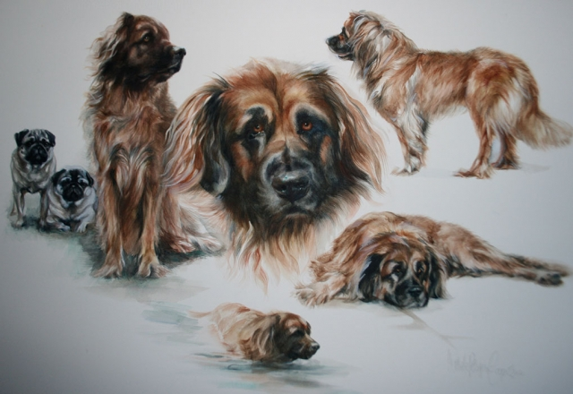 Painting of dogs