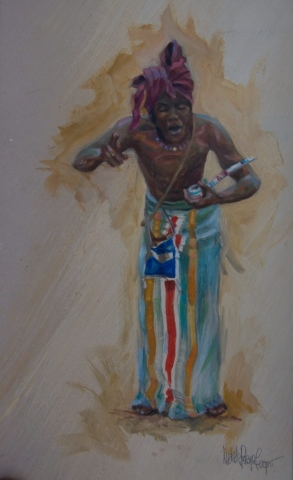 Witch Doctor Oil Painting