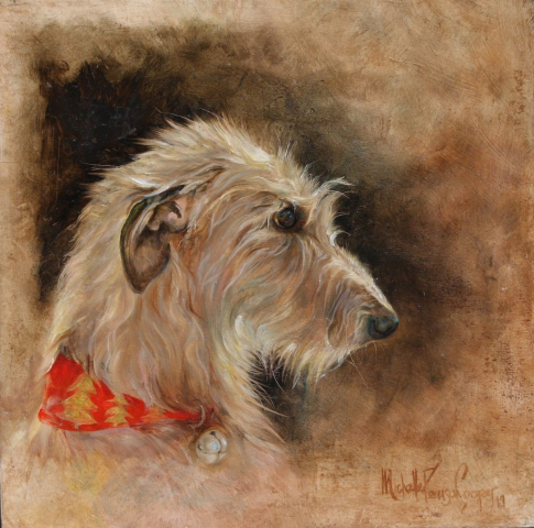 Commission Painting of a Lurcher Dog