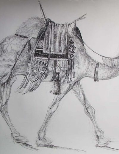 Camel Charcoal 32 x 40 inches approx