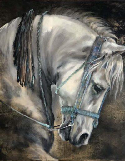 Carnival Horse Oil on Panel 60cm x 60cm