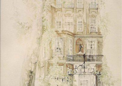 Cheyne Walk House Watercolour