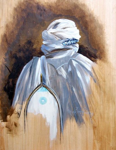 'From Timbuktu' oil on panel 30 x 40 inches