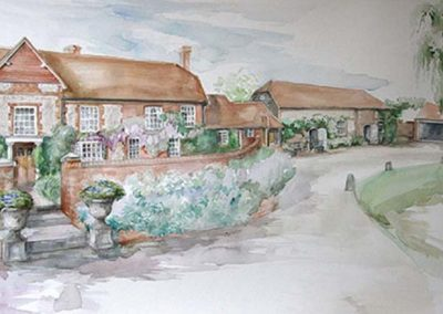 Millbrook in the Summer Watercolour