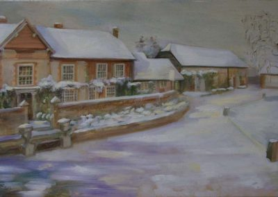Millbrook in the Winter Oil on Canvas