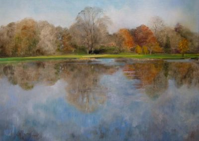 Reflected Glory Autumn Oil on Canvas