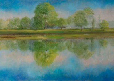 Reflected Glory Summer Oil on Canvas