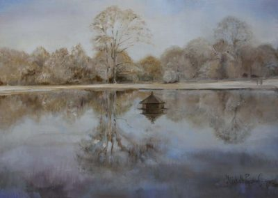 Reflected Glory Winter Oil on Canvas