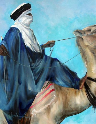'Riding to Ghadamis' oil on canvas 26 x 34 inches
